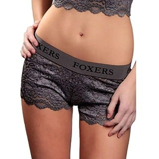 Foxers Women's Sexy Lace Panties Boxer Briefs