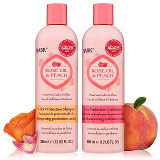 HASK ROSE OIL + PEACH Shampoo and Conditioner
