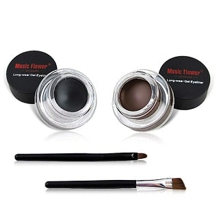 UCANBE 2 in 1 Black and Brown Gel Eyeliner