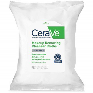 CeraVe Face & Eye Makeup Remover Wipes
