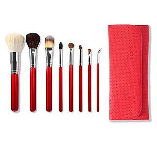 Morphe 8 Piece Candy Apple Red Makeup Brush Set