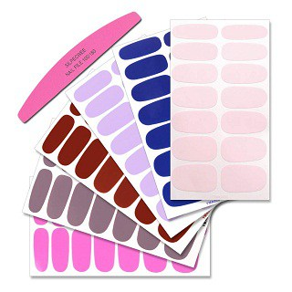 SILPECWEE 6 Sheets Nail Art Polish Stickers