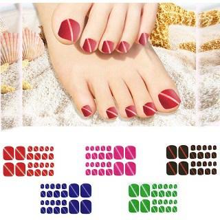 VIWIEU Glitter Toenail Stickers Nail Polish Strips