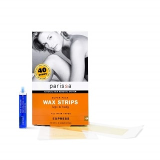Parissa Hair Removal Waxing Strips with Aftercare Azulene Oil
