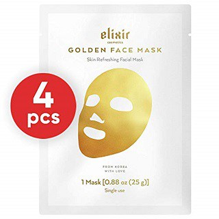 Elixir Premium Lab Korean 24K Gold Moisturizing Face Mask
