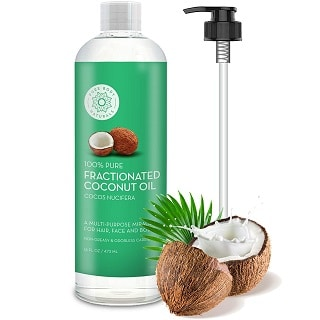 Pure Body Fractionated Coconut Oil for Hair and Skin