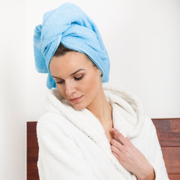 twist your hair using the towel